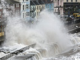 Image: Storms Hit South West Of England