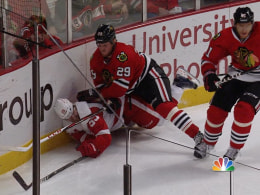 s nbc nhl bickellhit 130525.video 260x195 Wings Kronwall insists hes fine after Game 5 hit by Hawks Bickell