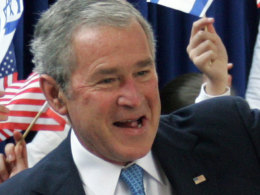 George Bush Arrives In Israel For Middle East Visit