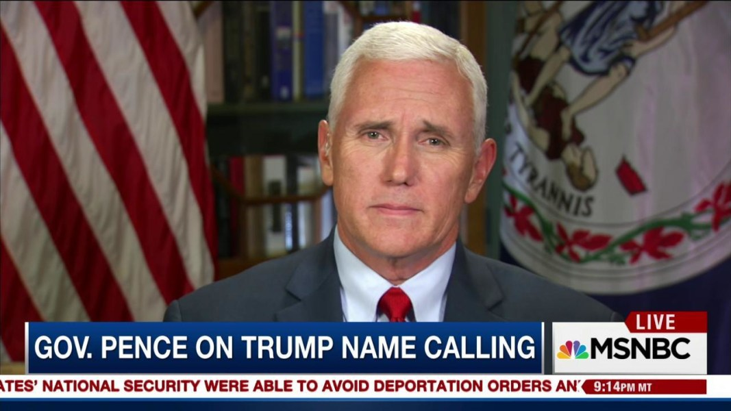 Name Calling: Mike Pence Responds To Trump's Name Calling