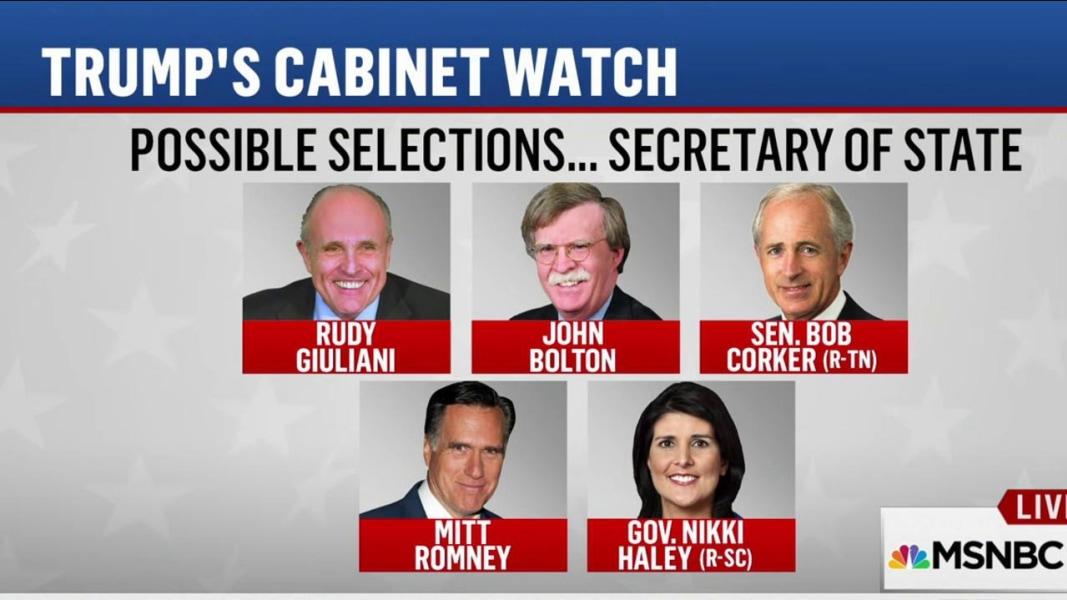 Trump mulls cabinet picks | MSNBC