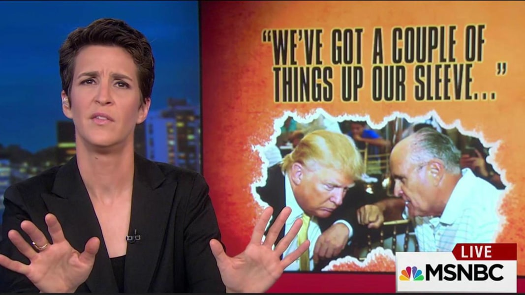 rachel maddow watch concerns leaking trump campaign