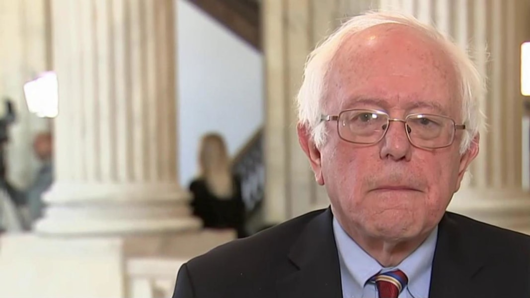 Bernie Sanders voting against Gorsuch nomination