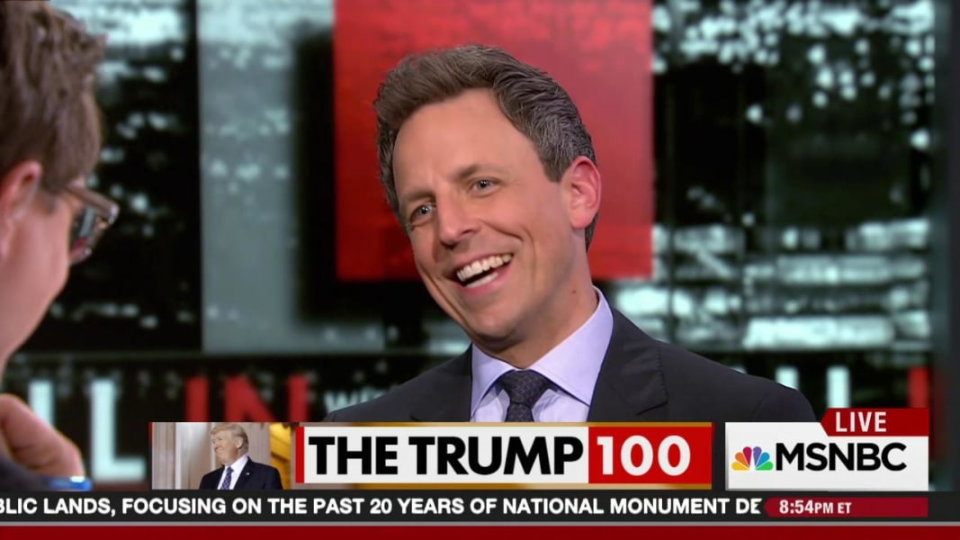 watch seth meyers trump first days