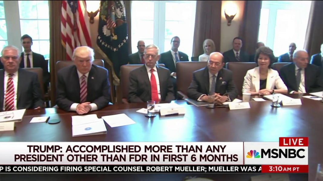 Trump holds 'very sick' cabinet meeting | MSNBC