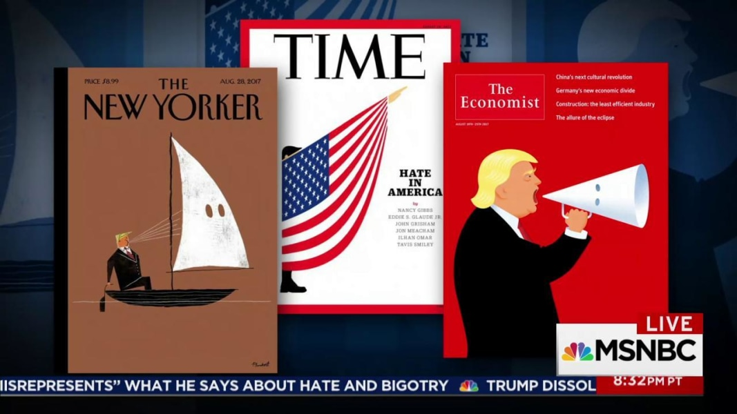 Evocative magazine covers call out Trump on Charlottesville
