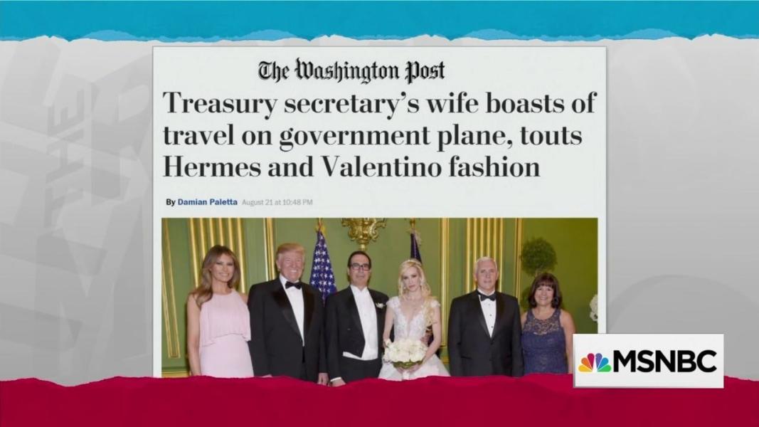 Trump Treasury Secretary Mnuchin's wife boasts about ...