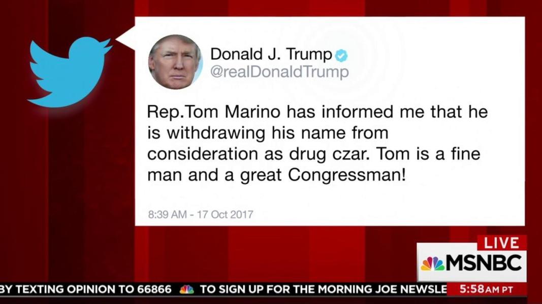 Trump says his drug czar pick withdrawing name