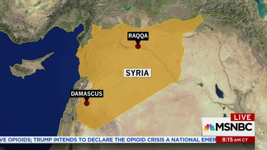 U.S. backed Syrian forces push ISIS out of Raqqa