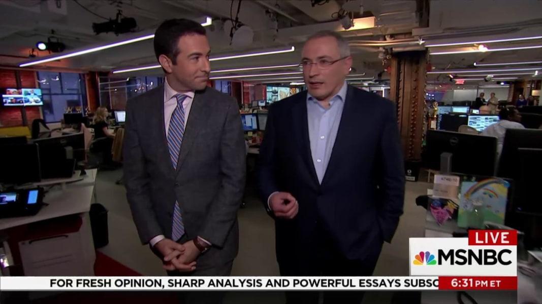MSNBC: Exiled Putin Rival Ties Kushner Meeting to Kremlin Bankers