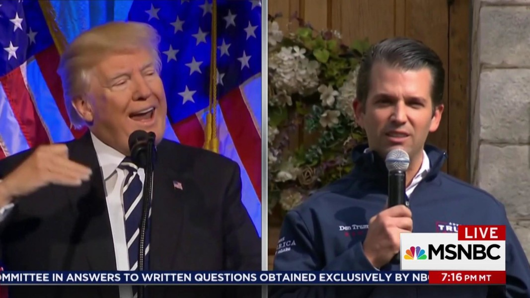 Trump Jr invents 'privilege' excuse to duck Russia questions