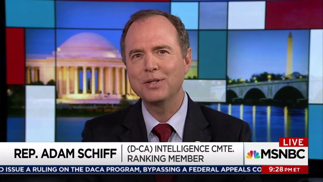 Schiff: White House playing games with Bannon