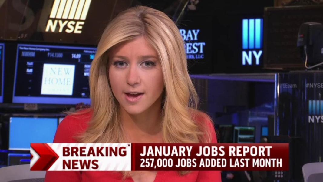 report 257000 jobs added in january msnbc