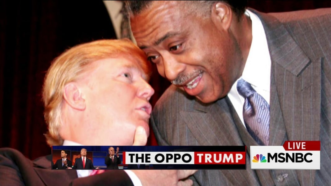 Image result for al sharpton and trump
