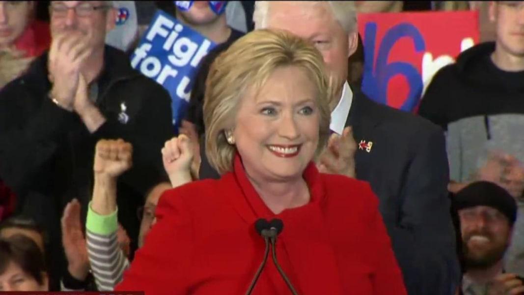 Hillary Clinton Apparent Iowa Winner Msnbc