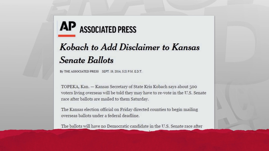 Unprecedented ballot disclaimer set for KS