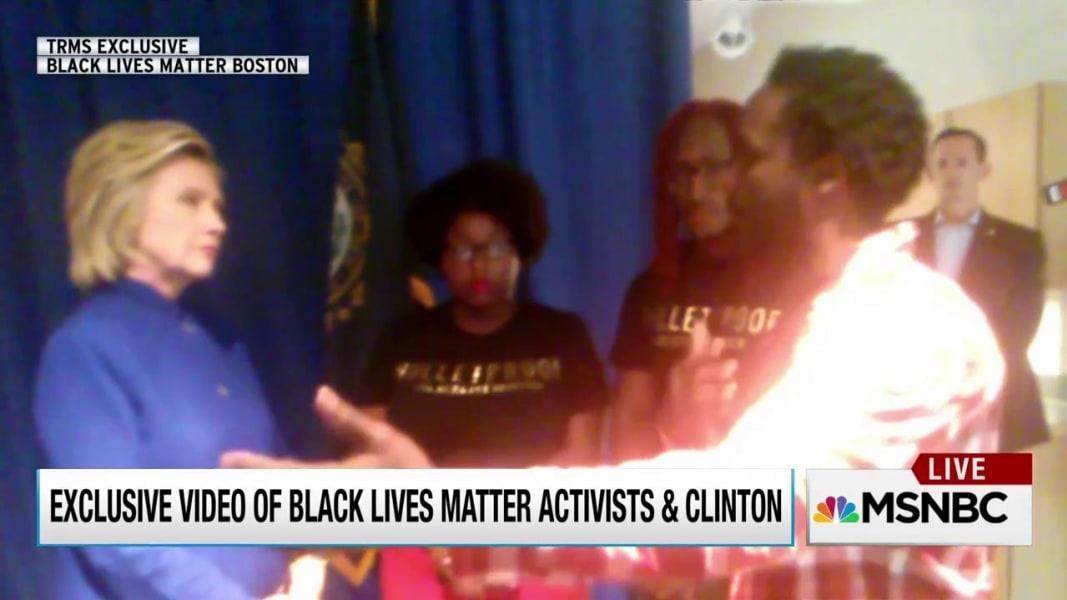 Exclusive When Hillary Clinton Met Black Lives Matter Msnbc