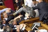 Brawl breaks out in Ukrainian parliament
