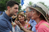Ryan is joined by mom at Florida campaign...