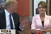 Palin and Trump have a pizza party