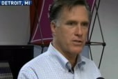 Romney receives less than warm welcome home