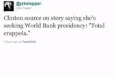 Clinton rumor is 'crappola'