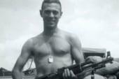 War hero visits the battlefield where he...