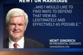 Gingrich: Same-sex marriage 'muddles'...