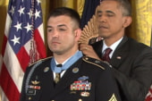 Wounded soldier's bravery honored