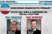 Real Democrats take early lead in Wisconsin