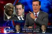 Colbert hops aboard the Herman Cain bandwagon