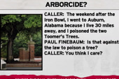 Attempted arborcide confession on tape