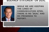 Boehner denies deal