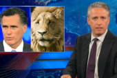 Jon Stewart: Romney is the 'thick mane' of...