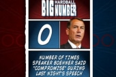 Boehner doesn't mention compromise