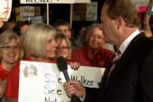 Ed works the crowd in Madison: 'We have...