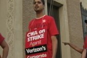 Verizon gives their union workers static