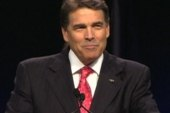 Will Perry be burned by tea party talk?