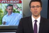 Life's a beach for Obama