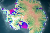 Satellites map Antarctic ice flow