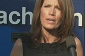 Bachmann jokes that God sent hurricane to...