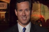 Rick Santorum talks to Ed Schultz after...