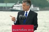 Huntsman campaigns on despite dismal numbers