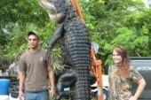 Florida teen catches 300 pound alligator