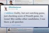 "Santorum Responds to Ed Schultz: ""Guilty""!"