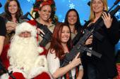 Amazing Santa photos with machine guns