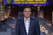 Romney appears on Letterman