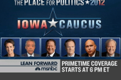 MSNBC's live Iowa coverage begins at 6 pm ET