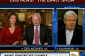 Gingrich hits a late attack on Romney
