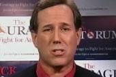 Santorum slips up